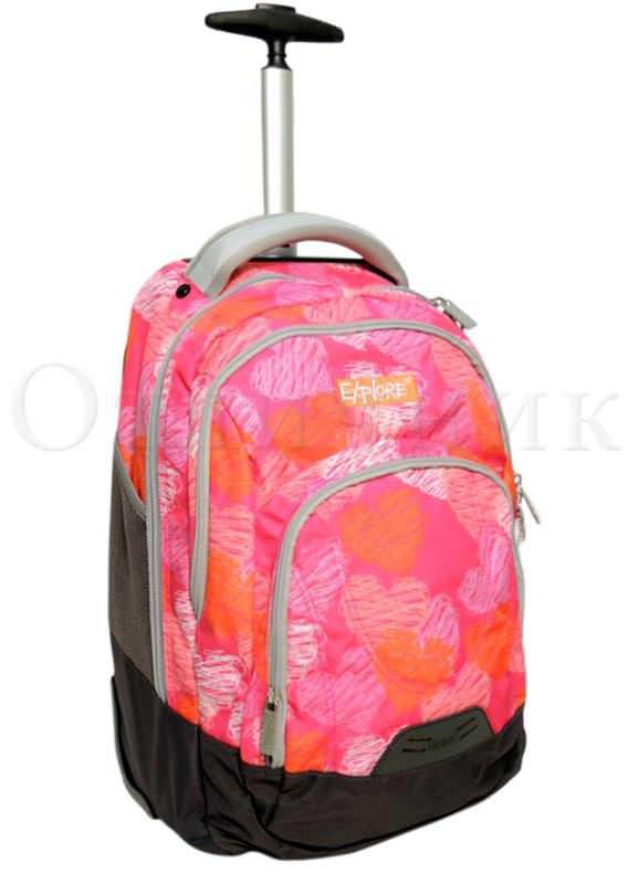 Рюкзак школьный на колесиках modan купить детский рюкзак поп пиксики